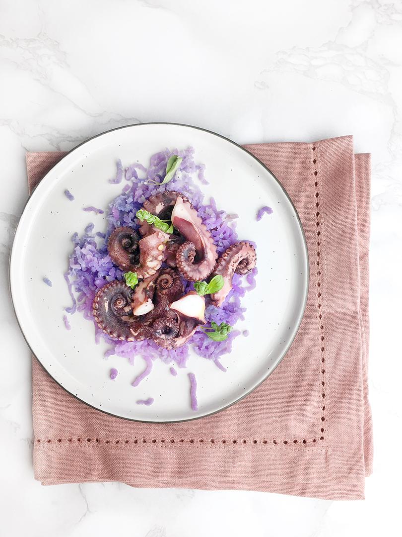 Il Polpo Con Le Patate Violette Non Solo Porridge