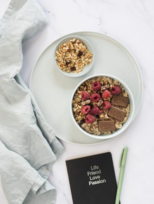 porridge con il ciocori